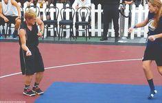 Josh dancing at the SBNN 3 on 3 Charity Basketball Game - Josh Hutcherson Photo (31694935) - Fanpop