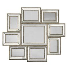 Display your fondest memories in an organized and stylish Z Gallerie Stella Wall Gallery Frame. $129.95 These would be lovely to display black and white photos of my daughter. I'm tired of seeing family photos in black and white gallery style dysplays. This adds such elegance and class. Perfect for our livingroom!