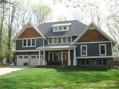gray house with cedar accents exterior pics | exteriors