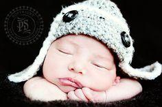 #newbornphotography #babyboy  aviator hat!!