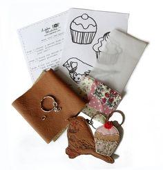 leather keyring craft kit by tugba kop illustration | notonthehighstreet.com