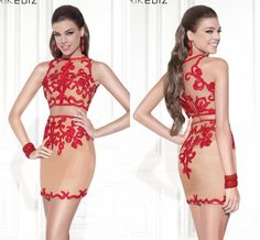 New Two Pieces Cocktail Dresses Short Sheath Red Appliques Satin Prom Gowns Crew Zipper Back Mini Homecoming Dresses YU7001, $83.77   DHgate.com