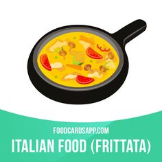 Frittata is an egg-based Italian dish similar to an omelette, enriched with additional ingredients such as meats, cheeses, vegetables or pasta.   #frittata #omelette #italianfood #food #english #englishlanguage #learnenglish #studyenglish #language #vocabulary #dictionary #englishlearning
