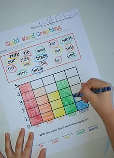 Sight Word Graphing!  Combines math and sight words!