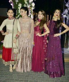 Bollywood Divas at Manish Malhotra's Niece Wedding.