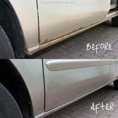 A diy car molding strip so you can quickly dress up your vehicles diy rust removal make your beater better fandeluxe Images