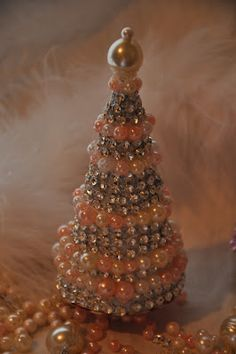 sweet little shabby christmas tree - need to make some of these to go with my glitter houses