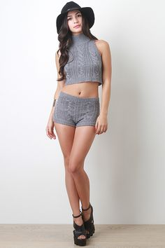 Braided Woven Knit Top