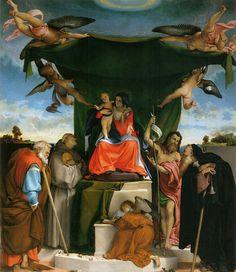 Lorenzo Lotto - Pala di San Bernardino  - 1521 - Bergamo (Italia) - Chiesa di San Bernardino in Pignolo