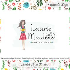 Perfect For Birth Coach, Doula, Midwife, Lactation Counselor Woman & Baby Premade Logo Design - Web + Print + Wate Business Logo Design, Business Branding, Branding Design, Doula Business, Business Names, Logan, Layout Design, Design Web, Cleaning Service Logo