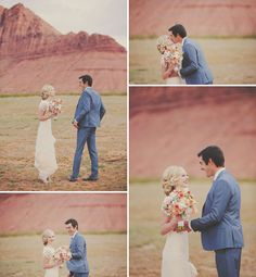 Red Rock Wedding Portrait Session first look www.gideonphoto.com