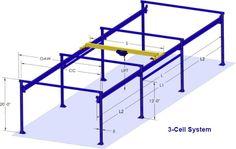 Free Standing Bridge Cranes, Overhead Bridge Crane and Hoist Diy Projects Garage, Metal Projects, Welding Projects, Sheet Metal Roller, Attic Lift, Garage Construction, Hvac Filters, Truss Structure, Metal Shop Building