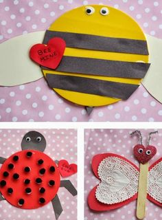 Use these creative DIY projects to celebrate Valentine's Day with your love bugs! Your kids will love making these crafts just as much as you do!