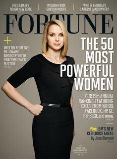 Marissa Mayer was listed as one of Fortune's 50 most powerful women.