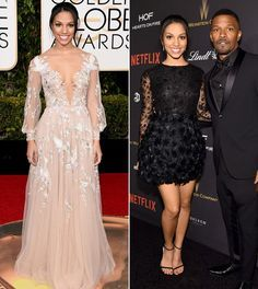 The Best 2016 Golden Globes After-Party Outfits | InStyle.com - CORINNE FOXX The University of Southern California student went from sweet to sultry in a long-sleeve beaded black minidress and simple black sandals at the Weinstein Company and Netflix Golden Globes after party.