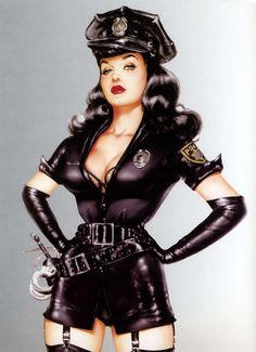 """The Fuzz"" model is Bettie Page, by Olivia De Berardinis"