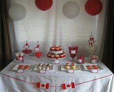 Canada Day tablescape