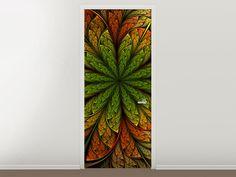 Tür #Tapete Abstraktes Blumenmuster