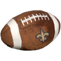 NFL Plush Football Pillow, New Orleans Saints