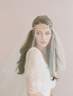 crystal headband with veil (greenweddingshoes.com)