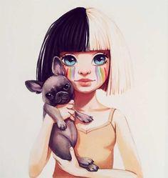 Süße Zeichnungen von Lera Kiryakova
