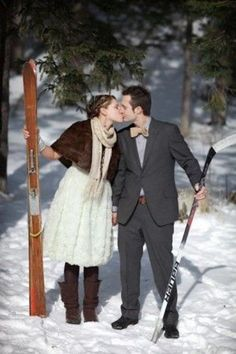 If you are an active sport-loving couple, why not show it rocking a cool ski or snowboard wedding? Go to a cool ski resort and invite everyone...