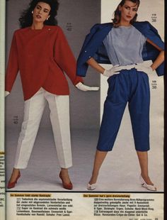 BURDA MODEN 1983 Fashion Days, 80s Fashion, Fashion Wear, Fashion History, Vintage Fashion, Peep Toe Shoes, Character Costumes, Layered Look, Vintage Sewing Patterns