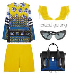 """""""prabal gurung"""" by icelle ❤ liked on Polyvore featuring Chloé, Gianvito Rossi, 3.1 Phillip Lim, Prabal Gurung, Linda Farrow and PrabalGurung"""