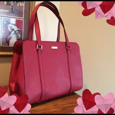 Kate Spade Miles in Red Safiano leather Used maybe twice, in like new condition! Beautiful rich red color.  No flaws at all. kate spade Bags Shoulder Bags