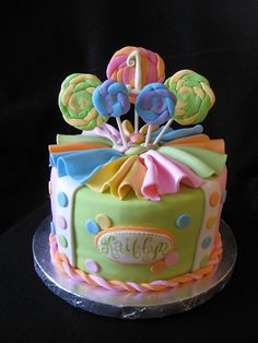 Candy Themed Cake, via Flickr.