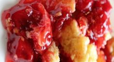 Crock Pot Cherry Dump Cake
