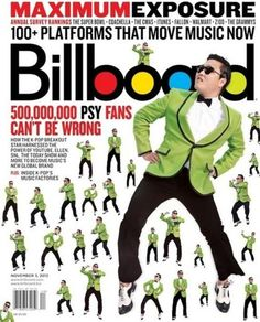 PSY is the Cover of BILLBOARD!
