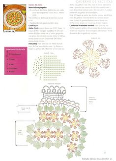Centro De Mesa Em Crochê Floral - CROCHE COM RECEITAS