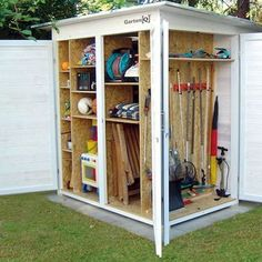 31 Wonderful Unique Small Storage Shed Ideas For Your Garden. If you are looking for Unique Small Storage Shed Ideas For Your Garden, You come to the right place. Below are the Unique Small Storage S. Garden Shed Diy, Garden Storage Shed, Outdoor Storage Sheds, Backyard Sheds, Diy Shed, Garden Tools, Garage Storage, Small Garden Storage Ideas, Patio Storage