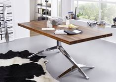 DUKE Stół #1003 Palisander lakierowany + metal 180x100 cm  - Meble drewniane - Meble kolonialne 24