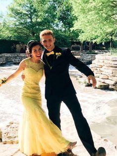 Yellow Mermaid Long Prom Dress , Charming Prom Dress cg15169