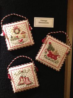 Vintage Ornaments from The Strawberry Sampler: