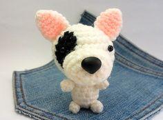 Amigurumi crochet Bull Terrier Puppy Dog toy. Cute by Owlystore