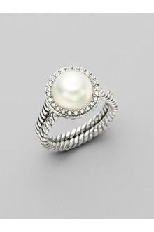 David Yurman White Pearl, Diamond & Sterling Silver Ring -  I want this ring!!!