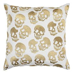 Our stylish and edgy Skull Pillow delivers personality plus function to your decor. #ZGallerie #ThrowPillow #Skull