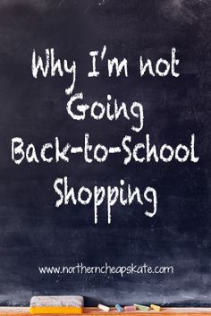 I'm not going to be one of the Americans who spends $600 on back-to-school shopping this year. You don't have to be, either.