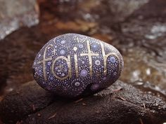 Inspirational Word Faith Stone / Painted Rock / Religious Word Rock / Written on Stone Series / Hand Painted Stone / Leslie Peery