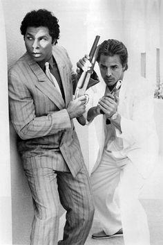 Philip Michael Thomas & Don Johnson in Miami Vice