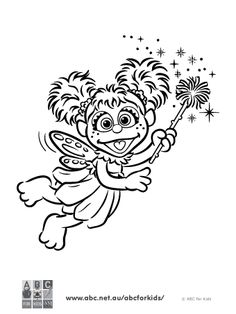 sesame street abby cadabby coloring pages | 1000+ images about Abby Cadabby on Pinterest | Sesame ...