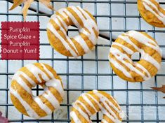 Baked Pumpkin Donuts with Pumpkin Spice Glaze