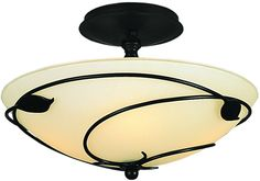View the Hubbardton Forge 126712 2 Light Down Light Semi-Flush Ceiling Fixture from the Leaf Collection at LightingDirect.com.
