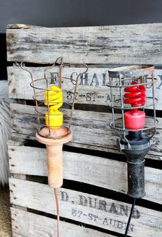 Nice to use those colored energy savers in a vintage/ industrial lamp