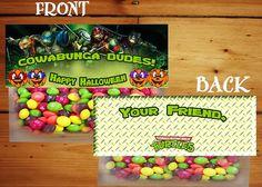 TMNT Halloween Treat Bag Topper Teanage Mutant by DazzelPrintz