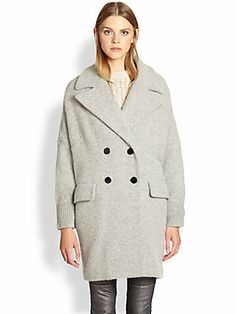 Marc by Marc Jacobs Max Stretch-Wool Sweater Coat