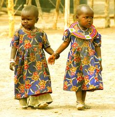 Maasai girls - Wilmington Pediatric Dentistry | #Wilmington | #NC | http://www.catchasmile.net/